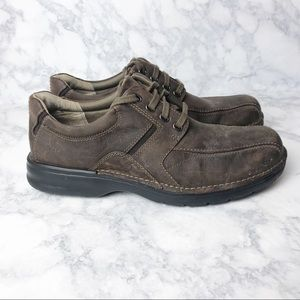 Clarks Leather comfort Bicycle Toe Oxford Shoes